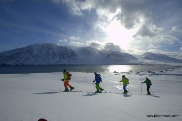 Ski touring in Akureyri